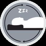 על הצד, הגב והבטןכרית בעלת מבנה המתאיםלכל תנוחות השינה