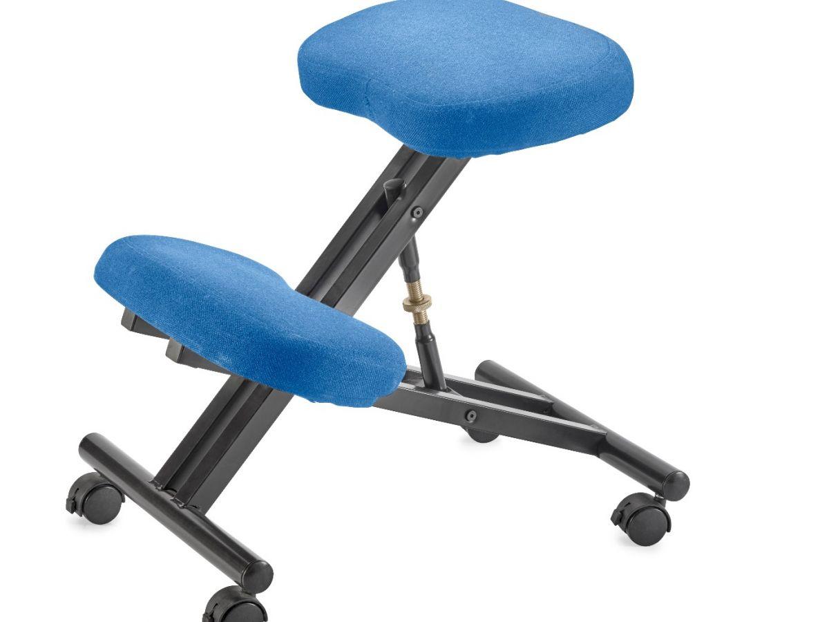 כסא ברכיים ארגונומיק כחול