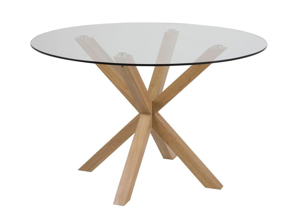שולחן זכוכית עגול HEAVEN